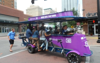 Pedal Crawler party bike used for experiential marketing event in Kansas City