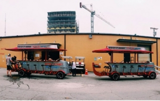 Sprocket Rocket in Nashville has nine pedal pubs manufactured by Pedal Crawler